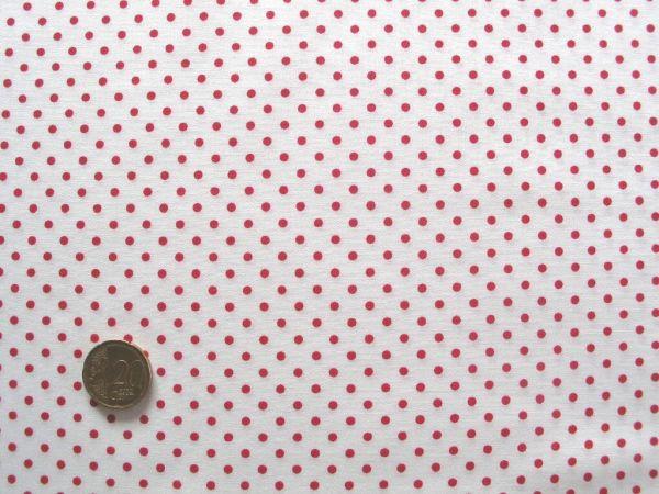 Hilco - Hilde Pünktchendruck, weiß-rot