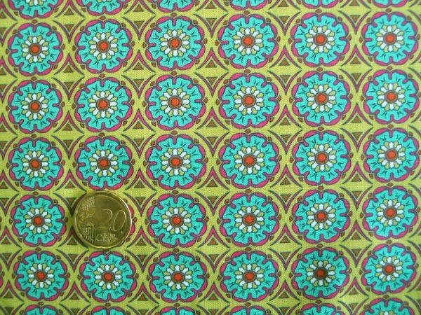 Hilco - Hilde Blumendruck, oliv-grün