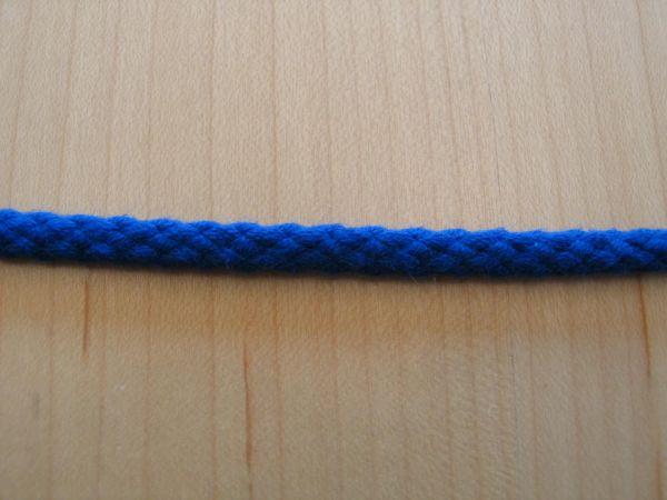 Baumwollkordel blau 5mm