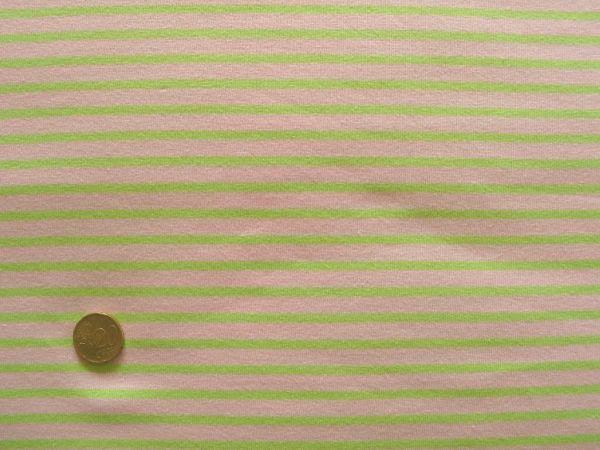 Hilco - Streifenjersey Campan, zartrosa-neongrün