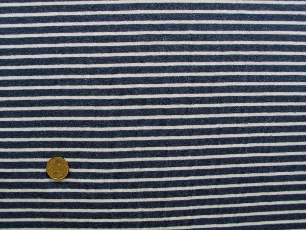 Hilco - Streifenjersey Campan, jeans melange-weiß