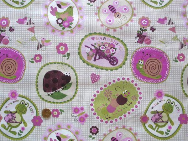 Hilco - Dekostoff Jardin-Snail, rosa