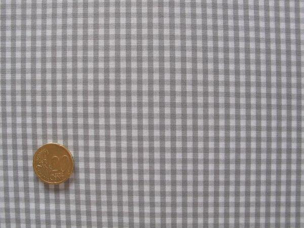 Hilco - Hilde Vichy-Karo, hellgrau-weiß, Reststück 16cm