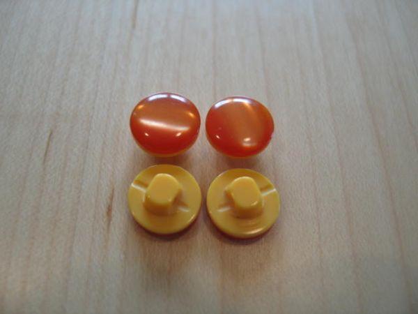 Union Knopf, Blusenknopf mit Öse 11mm, orange