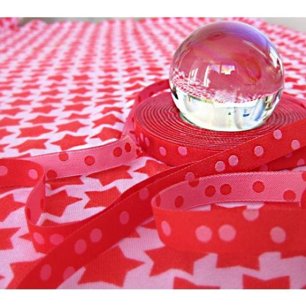 Farbenmix - Punkteband, rosa-rot