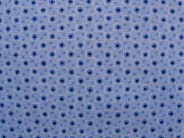 Hilco - Florencia Punkte mit Quadraten, hellblau