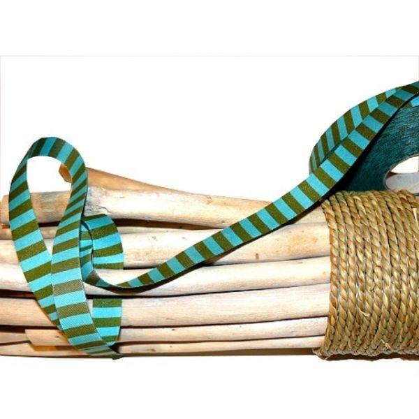 Farbenmix - Ringelband, türkis-grün