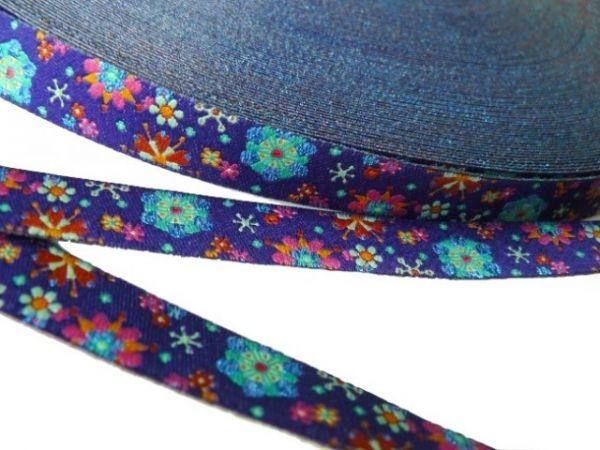 Farbenmix - Mandala-Glitzerblumen, lila, Webband