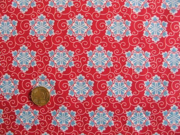 Hilco - Hilde Baumwolldruck, rot