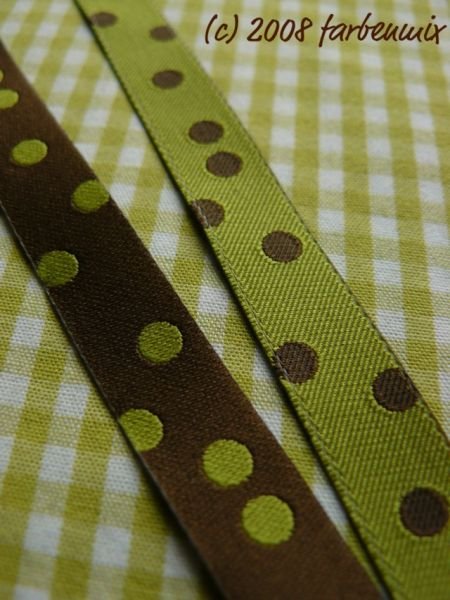 Farbenmix - Punkteband, oliv-schoko