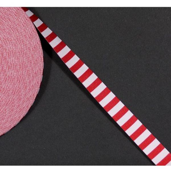 Farbenmix - Ringelband, rot-weiß