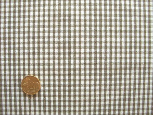 Hilco - Vichy-Karo, olivbraun-weiß
