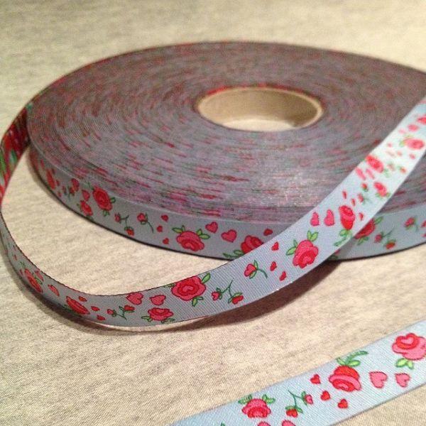Farbenmix - Rosenband, hellblau