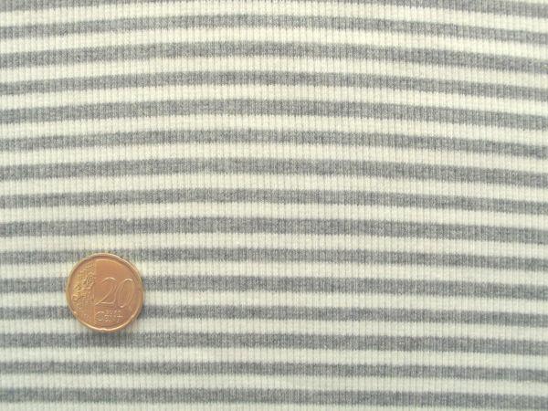 Hilco - Ringelbündchen, weiß-grau