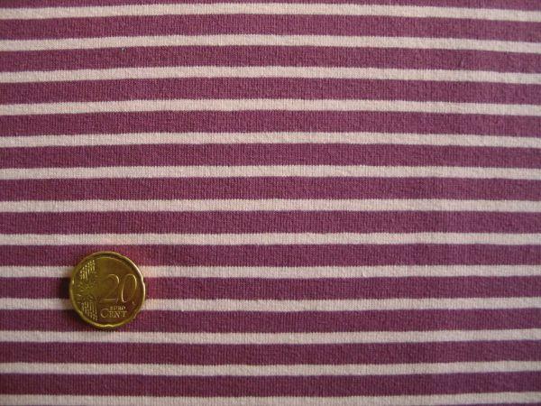 Hilco - Streifenjersey Campan, lila-blaßrosa