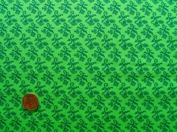 Hilco - Hilde Ornamentdruck apfelgrün-dunkelgrün