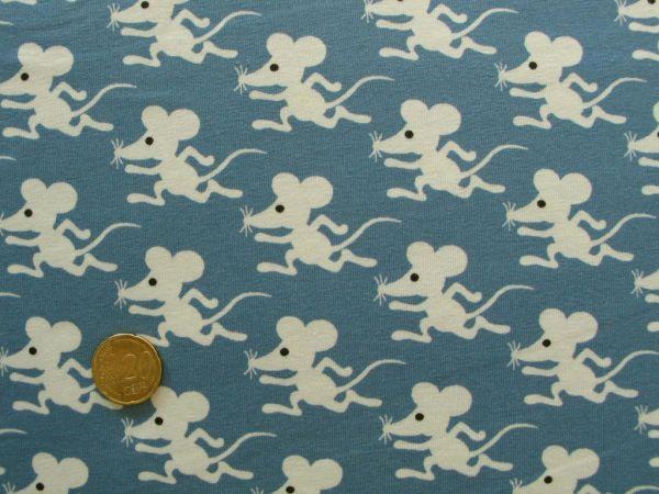 Hilco - Stretch-Jersey Mouse Run, blaugrau