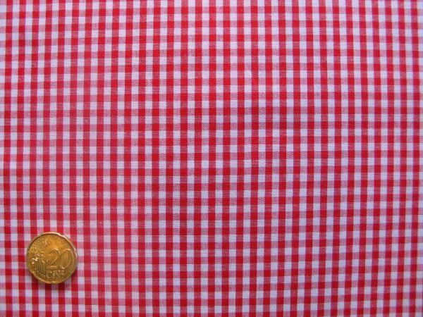 Hilco - Hilde Vichy-Karo, rot-weiß, Reststück 10cm