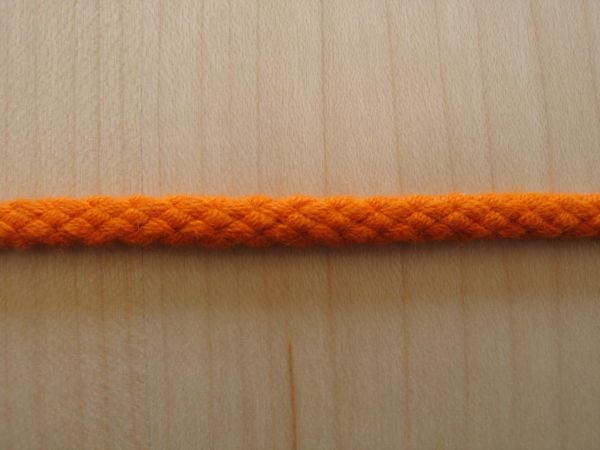 Baumwollkordel orange 5mm