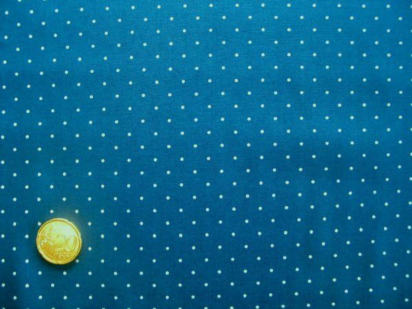 Hilco - Hilde Pünktchendruck, jeansblau-weiß