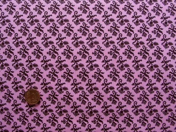 Hilco - Hilde Ornamentdruck, rosa-schoko