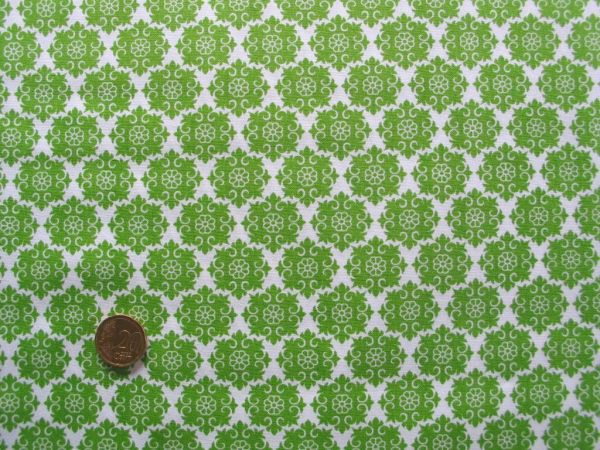 Hilco - Hilde Ornamentdruck, weiß-apfelgrün