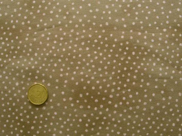 Hilco - Stretch-Jersey Otter Dots, braun