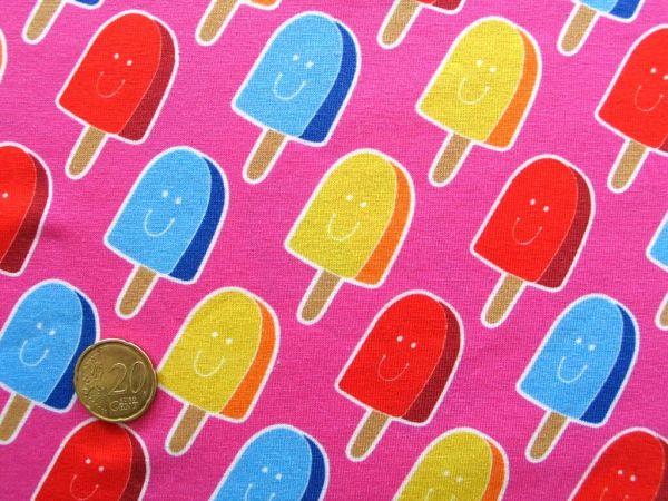 Hamburger Liebe - Stretchjersey Popsickle, pink, Rest 39cm