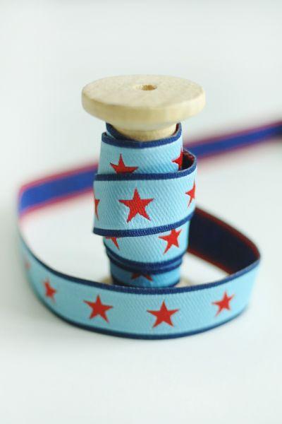 Farbenmix - Sterneband, hellblau-marine