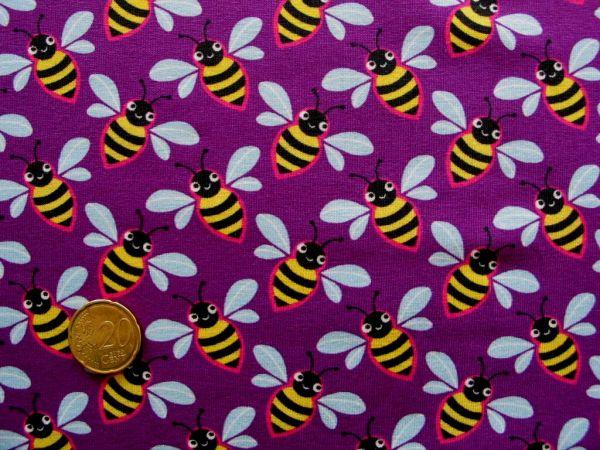 Hamburger Liebe - Stretchjersey Queenie Bee, lila