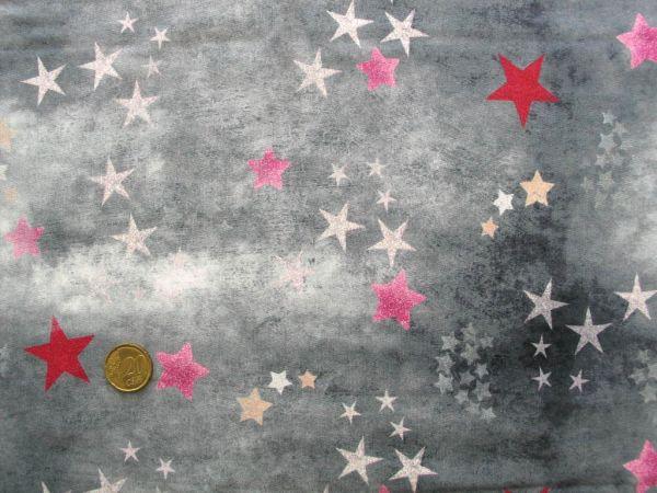 Hilco - Stretch-Sweat Trouble Star grau-pink