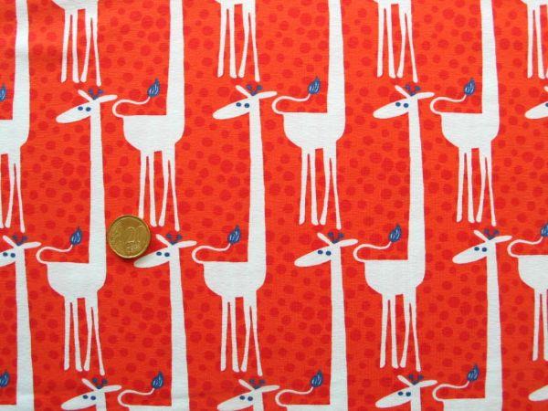 Hilco - Stretch-Jersey Shirt Girafe, orange, Reststück 82cm