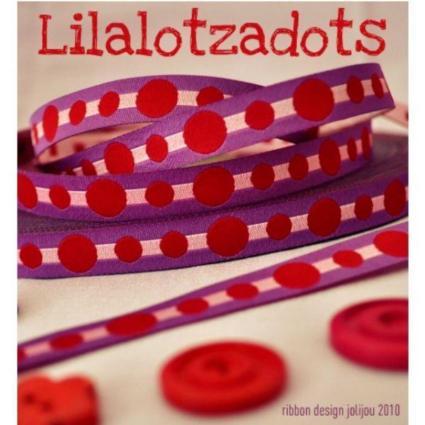 Farbenmix - Lilalotzadots-Webband
