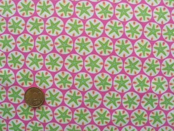 Hilco - Stretch-Jersey Little Seastars, pink-apfel