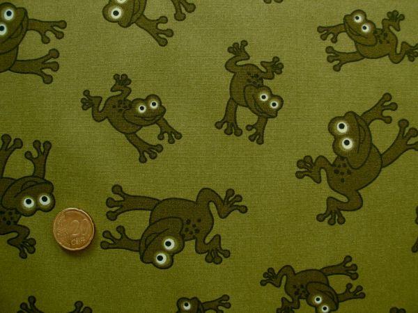 Hilco - Baumwollpopeline Jimmy Frog, khaki