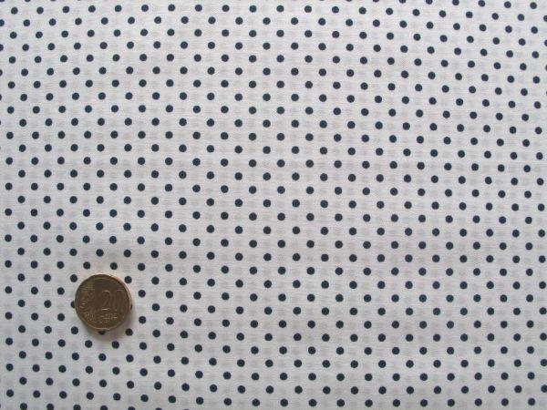 Hilco - Hilde Pünktchendruck, weiß-dunkelblau
