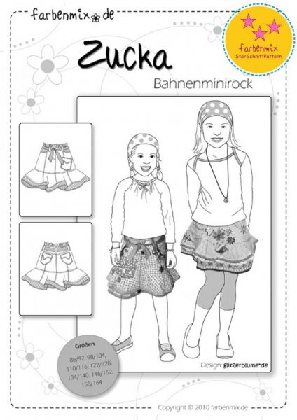 Farbenmix - ZUCKA Minirock, Schnittmuster, StarSchnitt