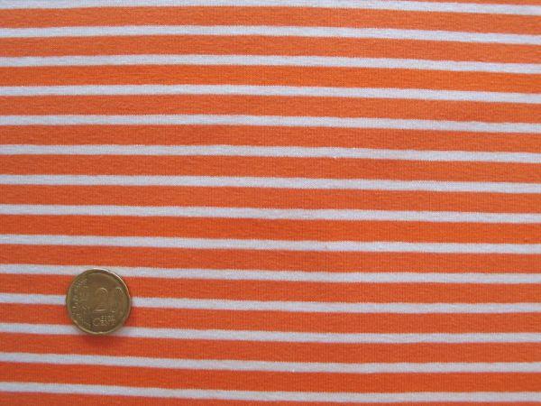 Hilco - Streifenjersey Campan, orange-weiß
