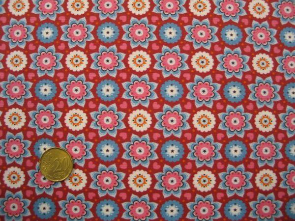 Hilco - Hilde Baumwollpopeline, rot, Reststück 23cm