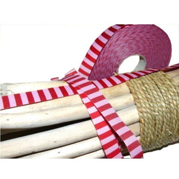 Farbenmix - Ringelband, rosa-rot