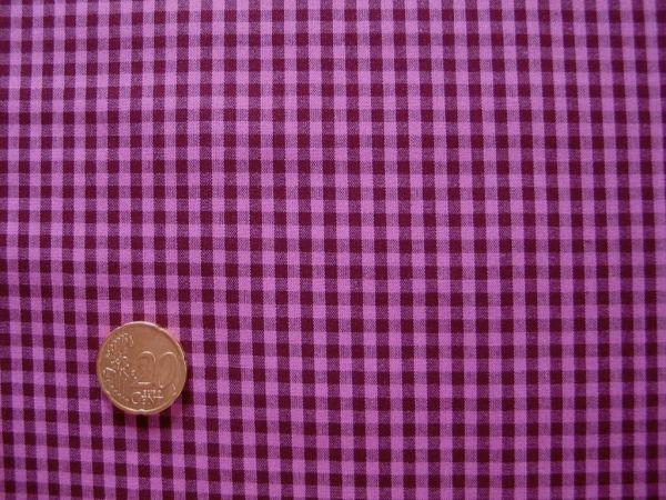 Hilco - Hilde Vichy-Karo, beere-pink, Rest 35cm