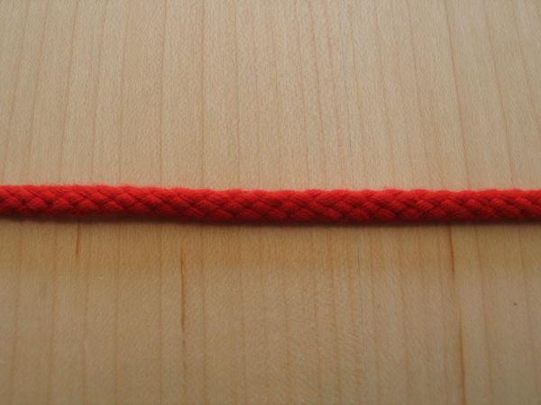 Baumwollkordel rot 5mm