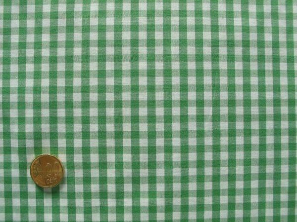 Hilco - Webkaro Vichy, grasgrün-weiß