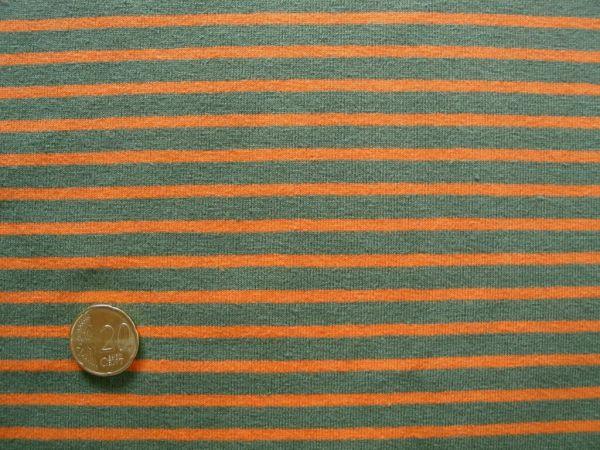 Hilco - Streifenjersey Campan, khaki-orange