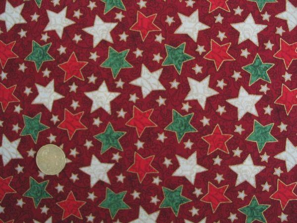Hilco - Deko Weihnachten Stars, rot