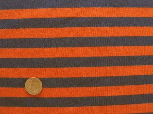 Hilco - Streifenjersey Campante, blau-orange Rest 20cm