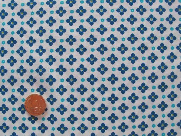 Hilco - Hilde Karoblümchen, weiß-türkisblau
