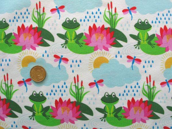 Hilco - Stretch-Jersey Froggy, weiß