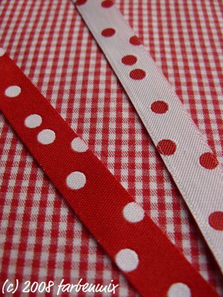 Farbenmix - Punkteband, rot-weiß