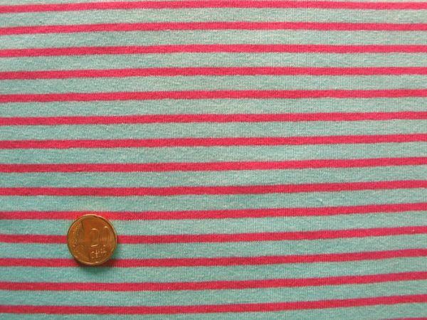 Hilco - Streifenjersey Campan, hellblau-pink
